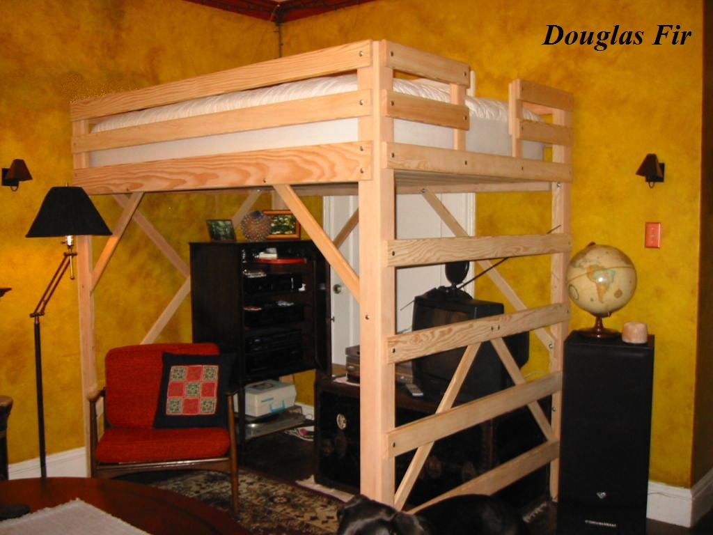Elevated Bed With Desk Underneath