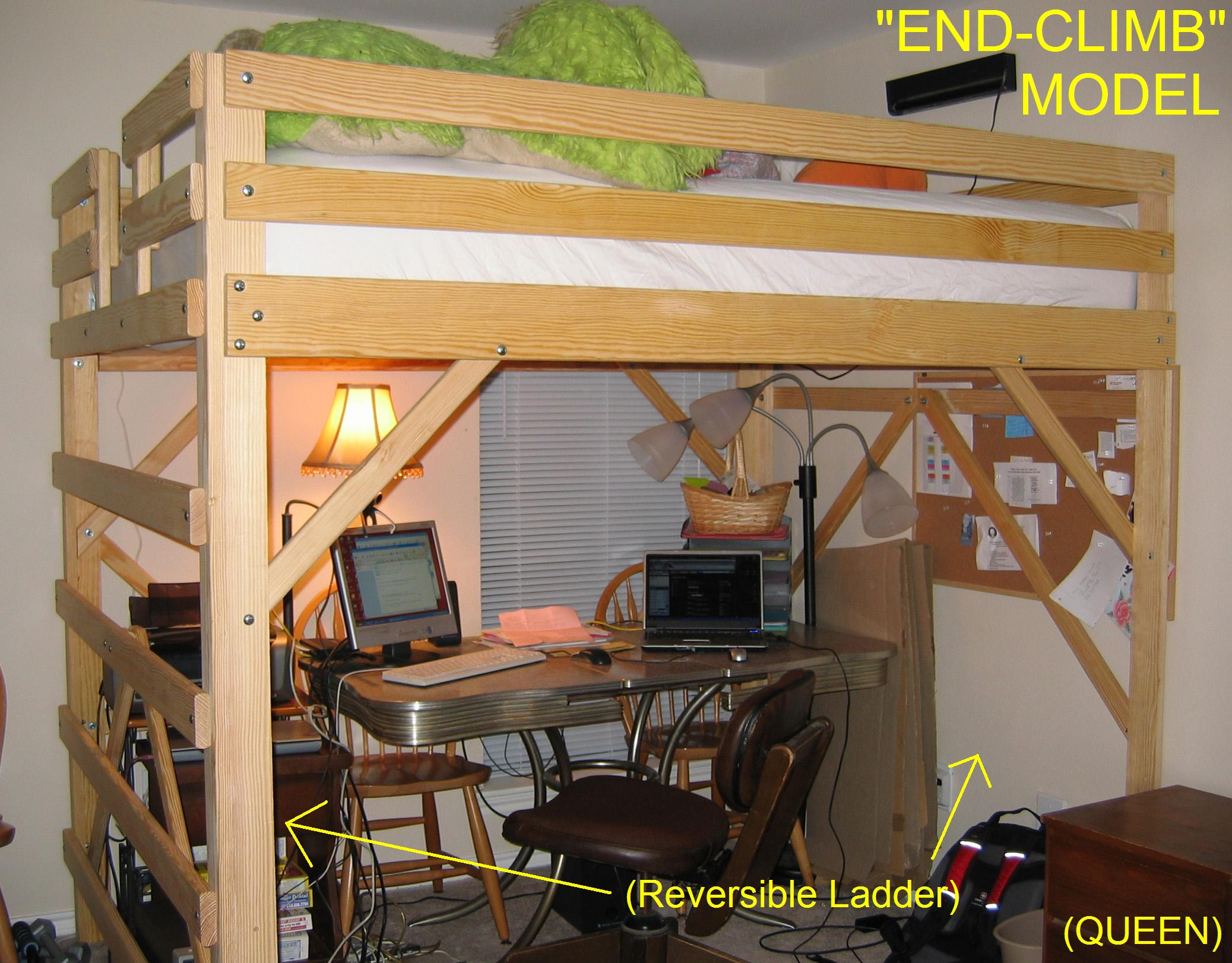 plans for loft bed with desk