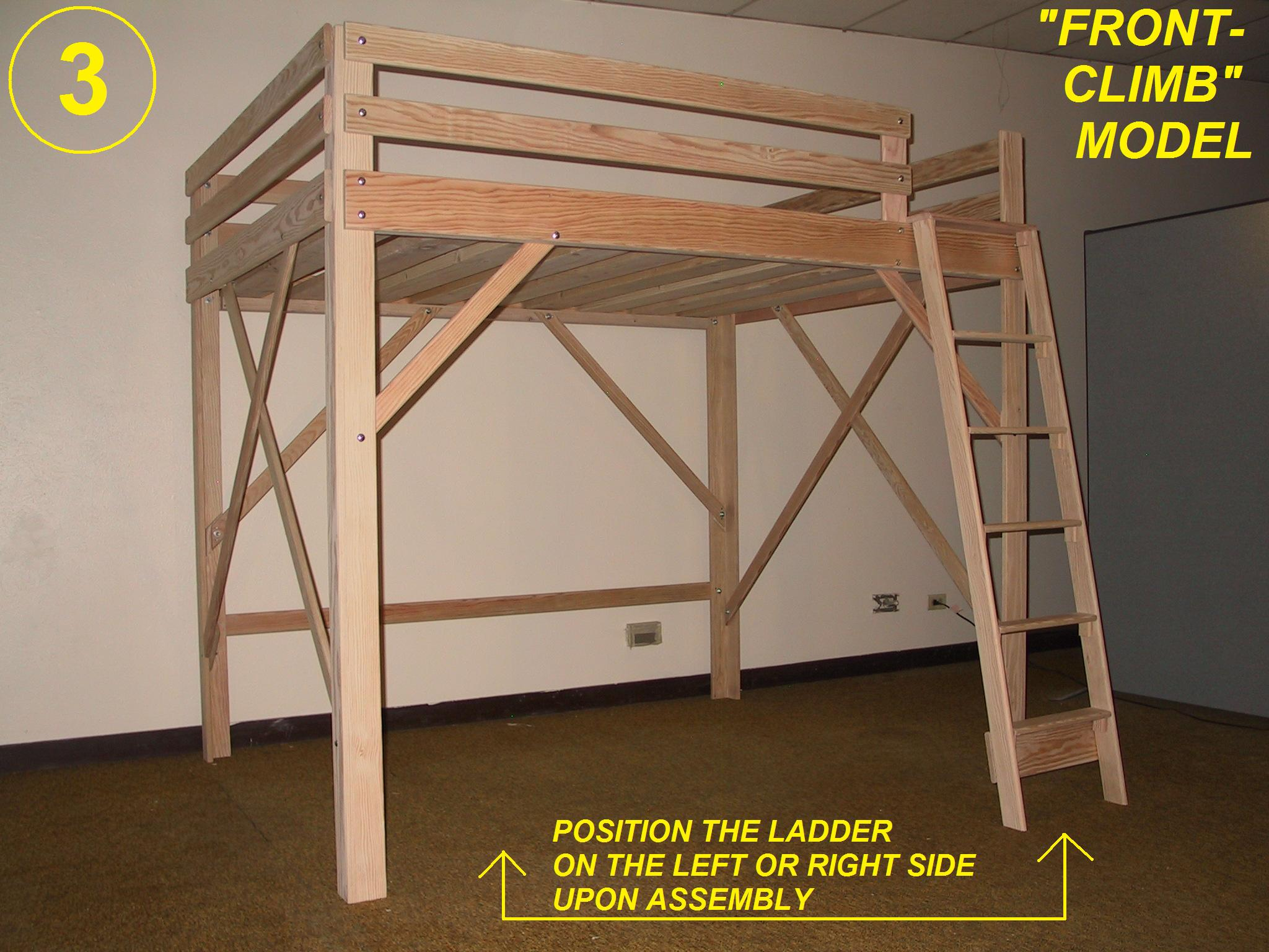 Detail twin bed woodworking plans youth desk radha Loft bed plans