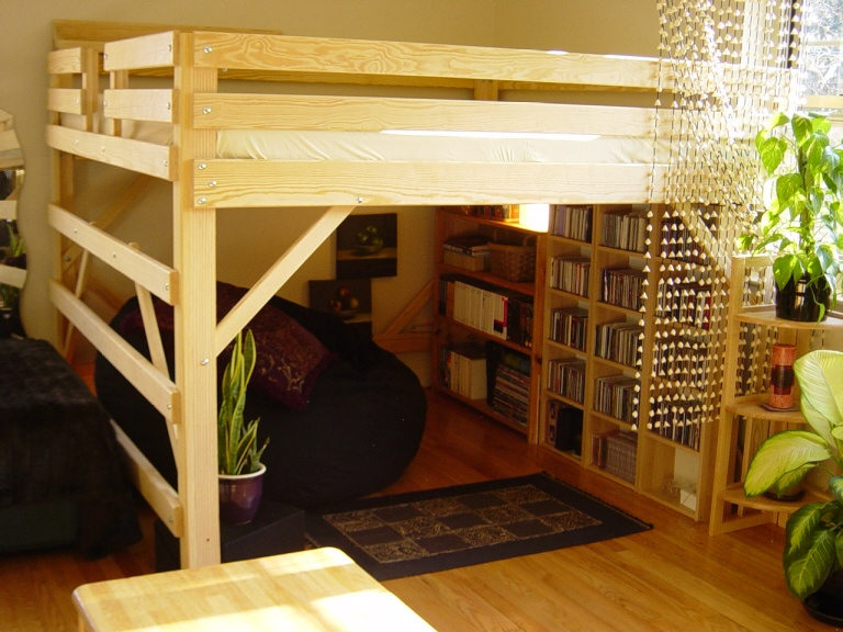 King Loft Bed by MC Woodworks
