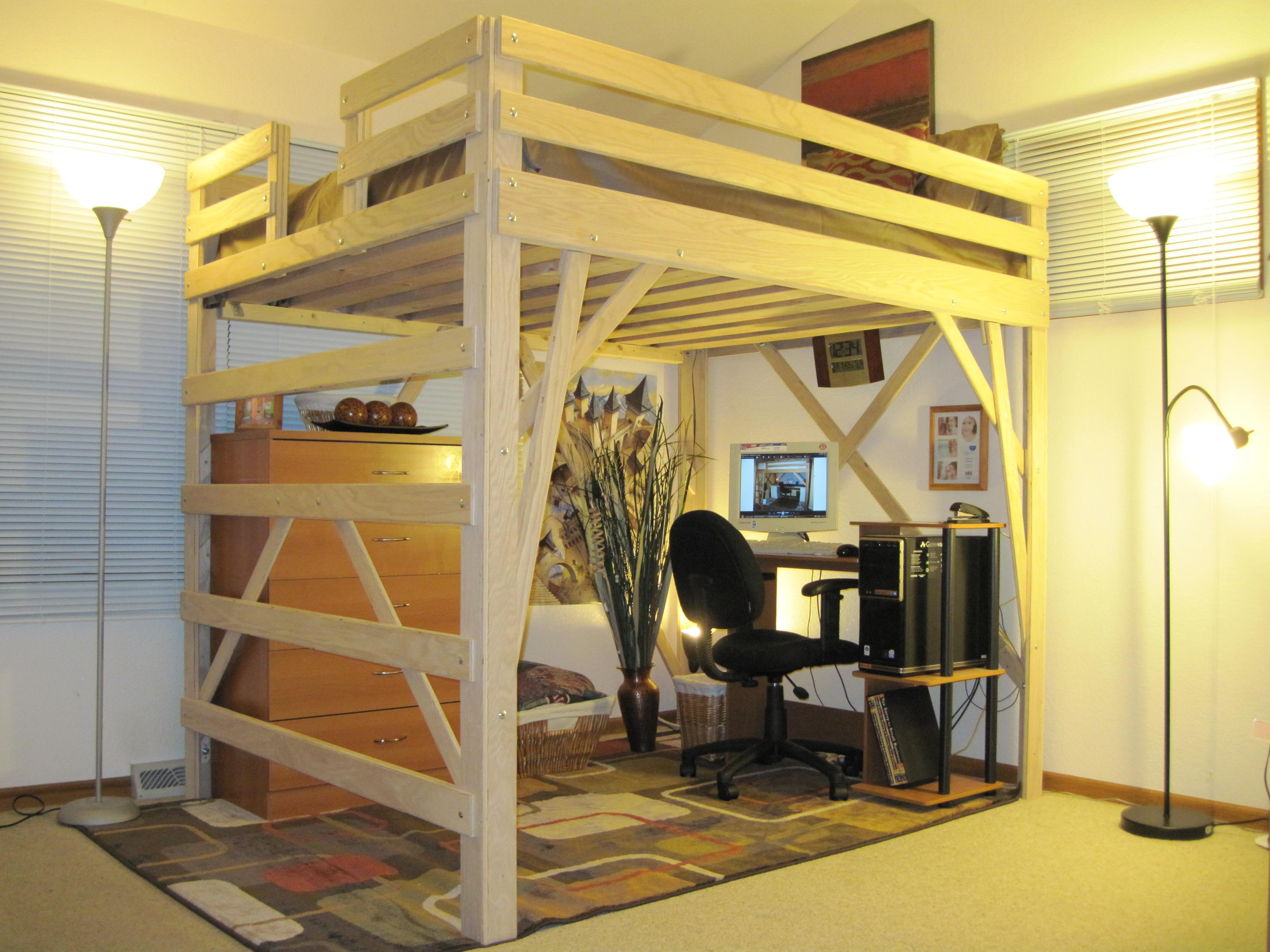plywood loft bed. Black Bedroom Furniture Sets. Home Design Ideas